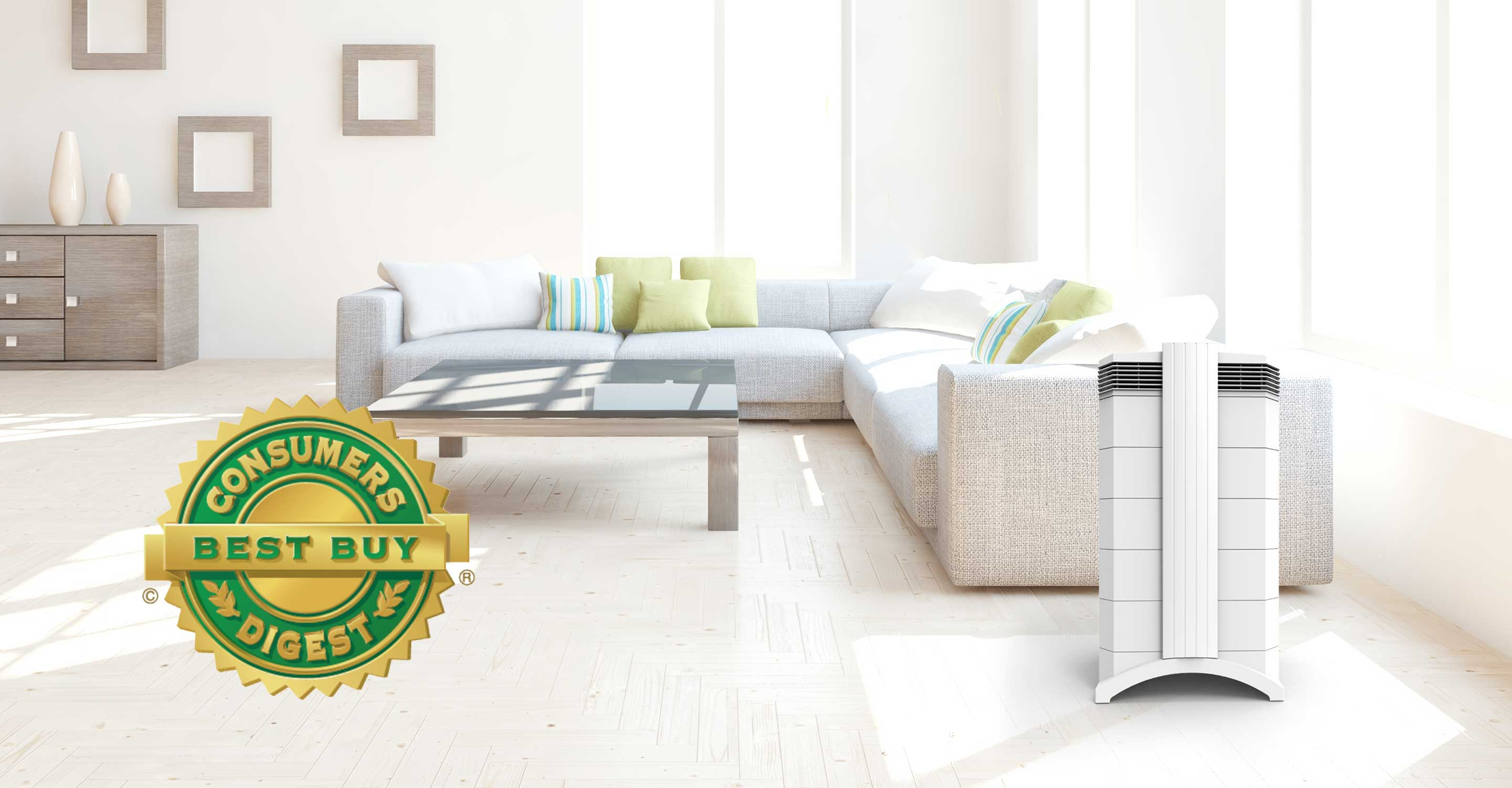 Image of house interior with Consumers Digest Best Buy logo.