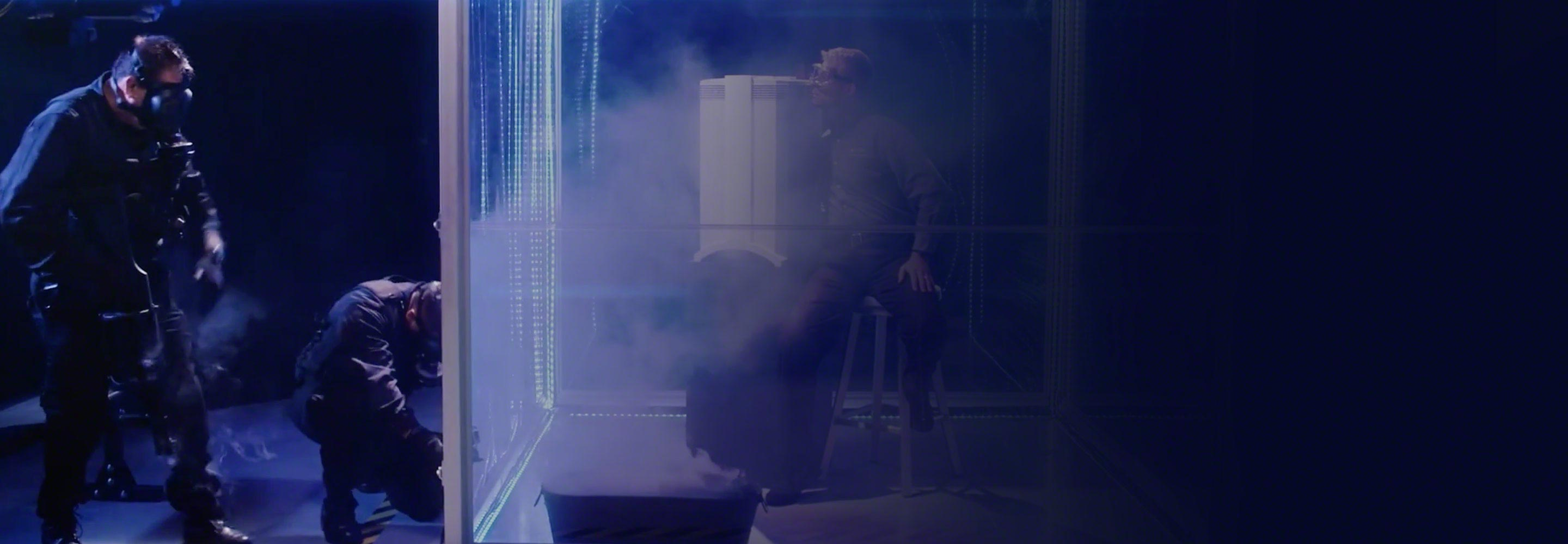 HealthPro Plus safely clearing a smoke chamber