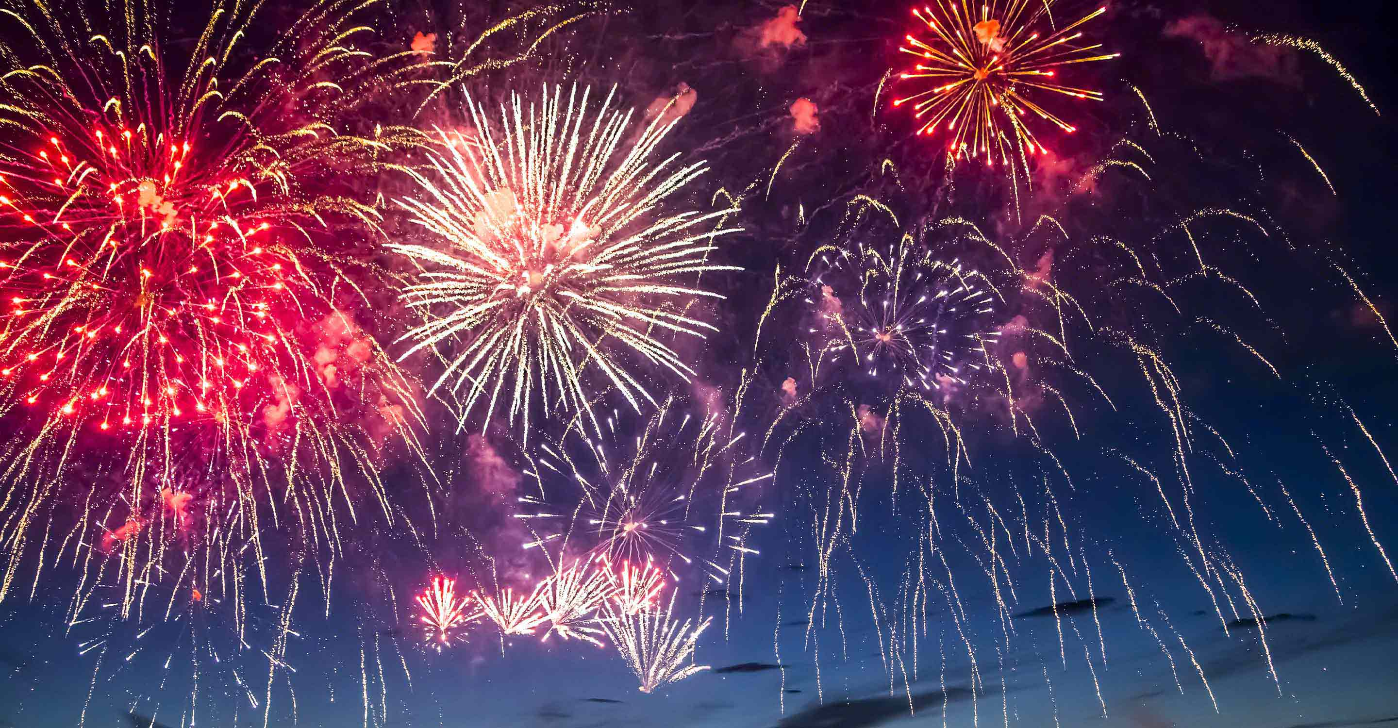 Air pollution trails Fourth of July fireworks