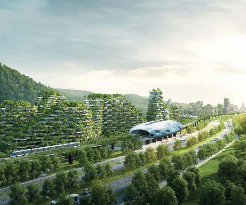 Future view of Liuzhou Forest City.