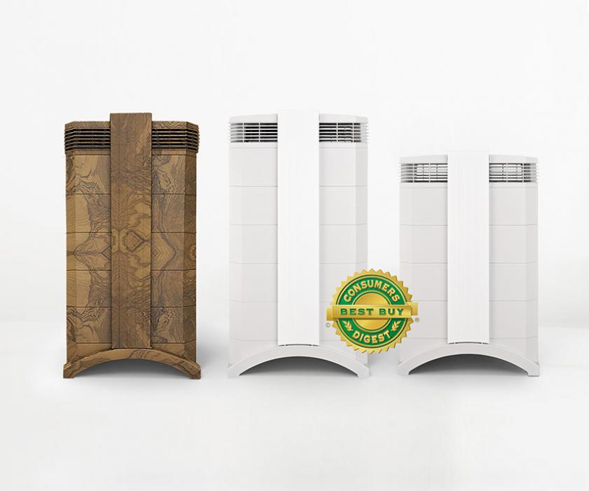 IQAir room air purifiers marked with Best Buy Seal.